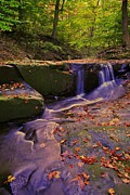 Princess Prints - Autumn Waterfall Print by Robert Harmon