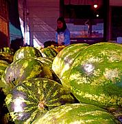 Watermelons Photos - Autumn Watermelons by Diane Woods