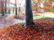 Autumn Photographs Digital Art - Autumn Whispers II by Artecco Fine Art Photography - Photograph by Nadja Drieling