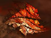 Storm Digital Art - Autumn Wind by Jutta Maria Pusl
