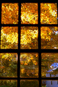Sturbridge Village Posters - Autumn Window 2 Poster by Joann Vitali