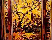 Abstract Realist Landscape Art - Autumn Window by Tim  Heimdal