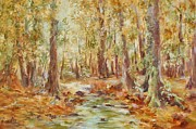 Barbara Smeaton - Autumn Woodland Stream
