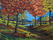 Fall Season Painting Posters - Autumnal Nostalgia Poster by Tyler Auman