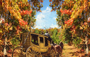 Horse And Buggy Digital Art Prints - Autumns Essence Print by Lourry Legarde
