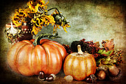 Autumn Decorations Posters - Autumns Offerings Poster by Stephanie Frey