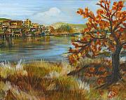Autunno Framed Prints - Autunno sul lago Framed Print by Patty Meotti