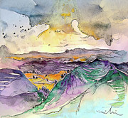 Rural Landscapes Drawings - Auvergne 03 in France by Miki De Goodaboom