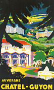 Haute-loire Posters - Auvergne France Poster by Nomad Art And  Design