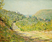 Village Paintings - Aux Petites Dalles by Claude Monet