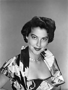 Gardner Framed Prints - Ava Gardner, 1951 Framed Print by Everett