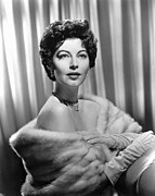 Ava Framed Prints - Ava Gardner, Ca. 1950 Framed Print by Everett