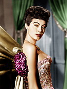 Gold Necklace Photo Prints - Ava Gardner, Ca. Late 1940s Print by Everett