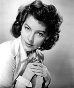 Ava Framed Prints - Ava Gardner, Circa 1940s Framed Print by Everett