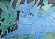 Kitten Prints Posters - Avatar Cat Poster by Cybele Chaves