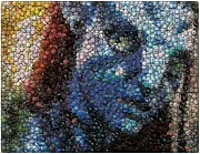 Bottle Caps Digital Art Posters - Avatar Neytiri Bottle Cap Mosaic Poster by Paul Van Scott