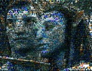 Mosaic Mixed Media - Avatar Shocking Blue Mosaic by Paul Van Scott