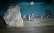 Images Pastels - Avebury Stone Circle by Tracey Mitchell
