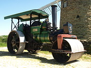 Road Roller Framed Prints - Aveling steam roller Framed Print by Steev Stamford