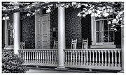 E Black Photo Prints - Avenel Porch - Bedford - Virginia Print by Steve Hurt