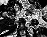 Avenged Sevenfold Print by Kathleen Kelly Thompson