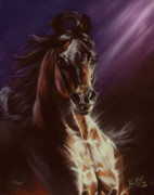 Horse Art Pastels Framed Prints - Avenger Framed Print by Kim McElroy