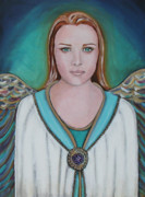 Iconic Paintings - Avenging Angel by Christy Sobolewski