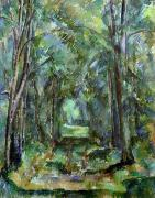 Tree Lined Paintings - Avenue at Chantilly by Paul Cezanne