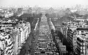 Champs Prints - Avenue des Champs-Elysees Print by John Rizzuto