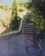 Jogging Paintings - Avenue Gravier - The Shortcut by Lin Petershagen