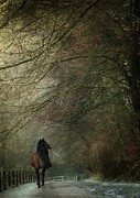 Horse Riding Digital Art - Avenue Walk by Dorota Kudyba