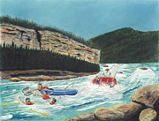 Canoe Pastels Prints - Averting Disaster Print by Tim Koziol