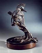 Granite Sculptures - Avian Angler by Mary Driscoll