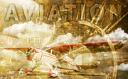 Flying Pyrography Prints - Aviation 1 Print by Eric Monse