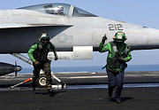 Operation Enduring Freedom Photos - Aviation Boatswain Mates Signal A Clear by Stocktrek Images