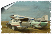 Dc-3 Plane Framed Prints - Aviation of the Past Framed Print by Steven Agius