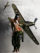 Nude Women Art - Aviator by Crispin  Delgado