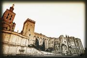 Popes Prints - Avignon, Provence, France Popes Palace Print by Carson Ganci