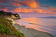 Cliff Posters - Avila Beach At Sunset Poster by Mimi Ditchie Photography