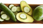 Kicka Witte Prints - Avocado and Cucumbers I Print by Kicka Witte - Printscapes