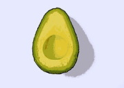 Avocado Digital Art Posters - Avocado  Poster by Marianne Beukema