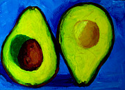 Tropical Fruit Posters - Avocado Palta V Poster by Patricia Awapara