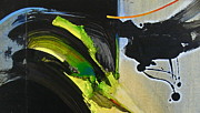 Drips Mixed Media - Avocado Swell by Cliff Spohn