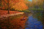 Terry Perham Originals - Avon In Autumn by Terry Perham