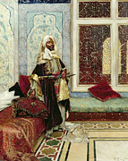 Moorish Framed Prints - Awaiting an Audience Framed Print by Rudolphe Ernst