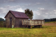 Hay Wagon Prints - Awaiting Autumn Print by Joann Vitali