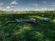 Model Aircraft Prints - Awaiting Takeoff 001 Print by Lance Vaughn