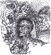 Pointalism Drawings Prints - Awakening Print by Charles Kabrich