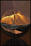 Reflections Digital Art Framed Prints - Awakening Framed Print by Debra and Dave Vanderlaan