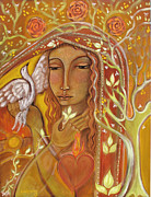 Sacred Heart Paintings - Awakening by Shiloh Sophia McCloud